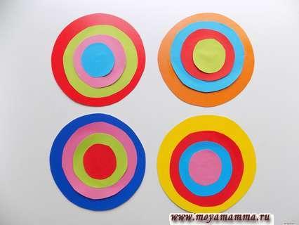 Разноцветные кружочки для игры.