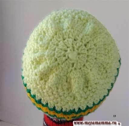 шапочка для девочки связанная крючком