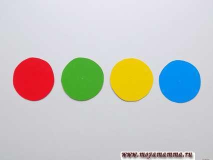 Цветные кружочки. Игра собери по образцу.