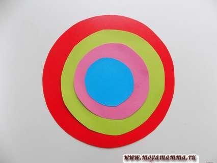 Готовый разноцветный кружочек