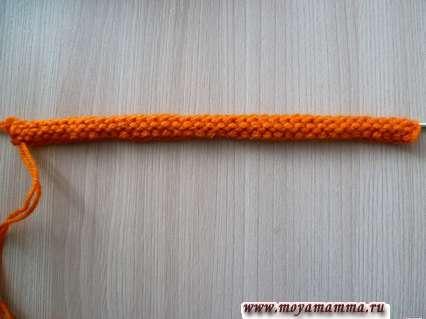 Вязание жгута.