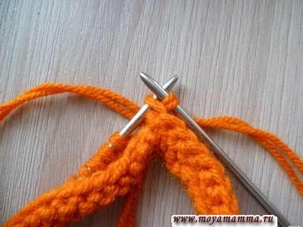 Вязание браслета спицами