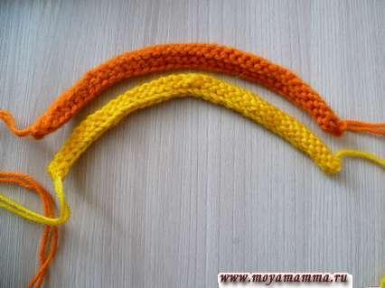 Оранжевый и желтый жгут.