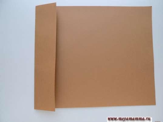 Лист коричневой бумаги