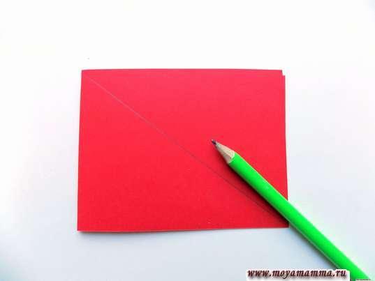 Заготовка для красного листочка
