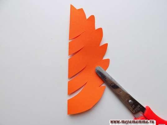 заготовка для дерева из оранжевой бумаги