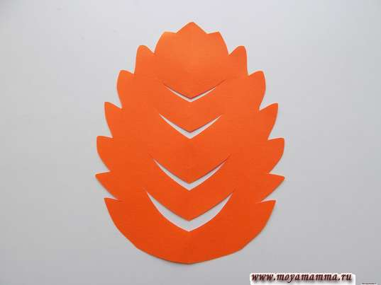 Дерево для аппликации из оранжевой бумаги