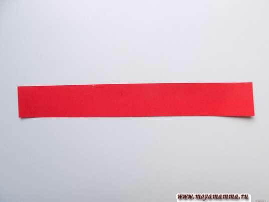 Полоска красной бумаги