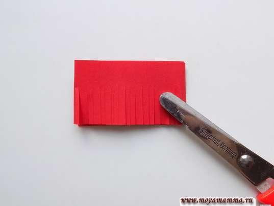 Складывание полоски и разрезание на полоски