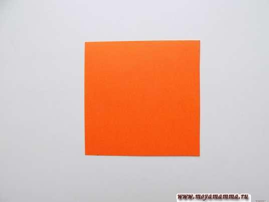 Оранжевый квадрат 7см х 7см