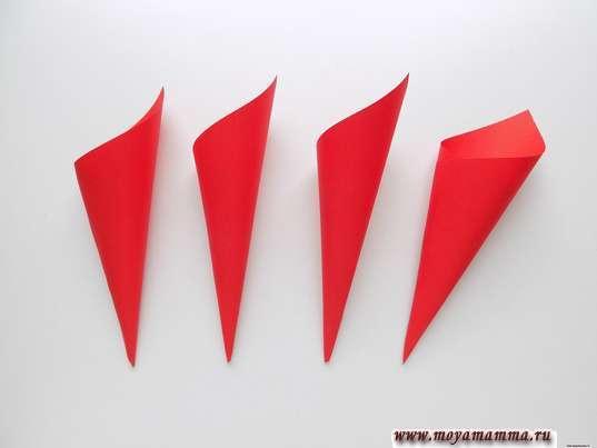 4 заготовки для зонтика