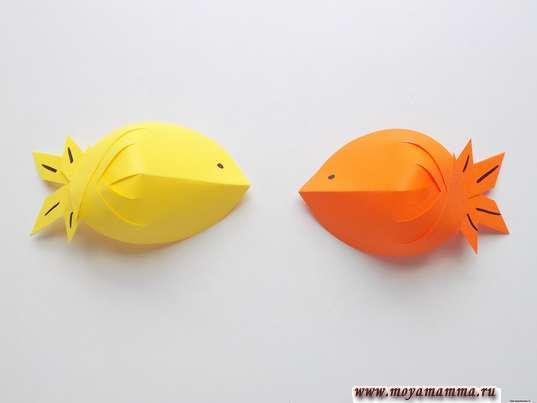 Аппликация рыбки в аквариуме. Рыбки.