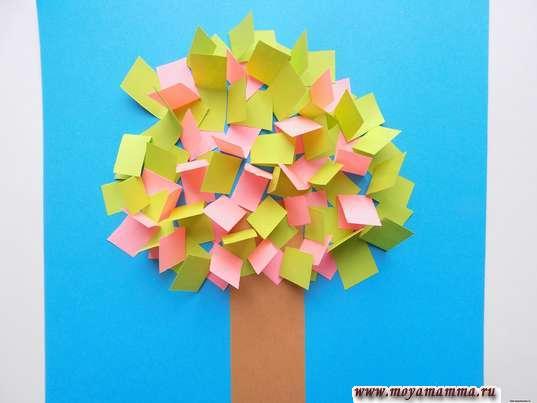 Аппликация цветущее дерево. Крона цветущего дерева