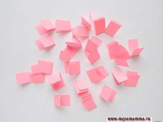 Заготовки из розовой бумаги