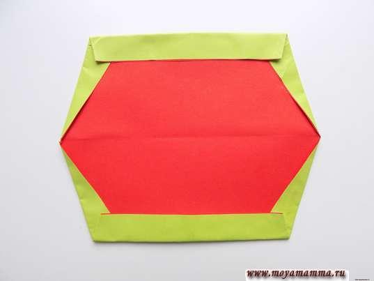 Оригами для малышей. Загибание верхнего и нижнего краев