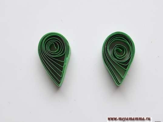2 заготовки из зеленых полосок