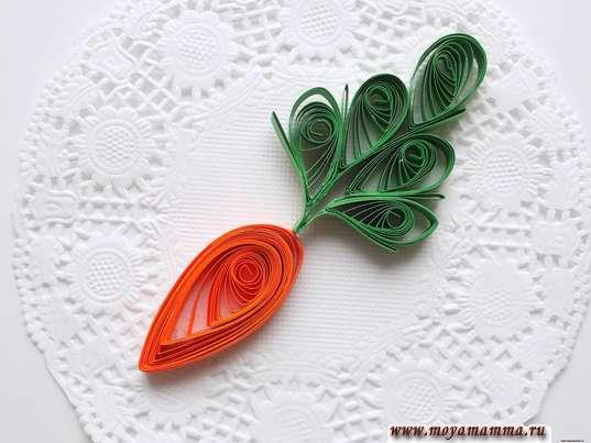 морковка квиллинг