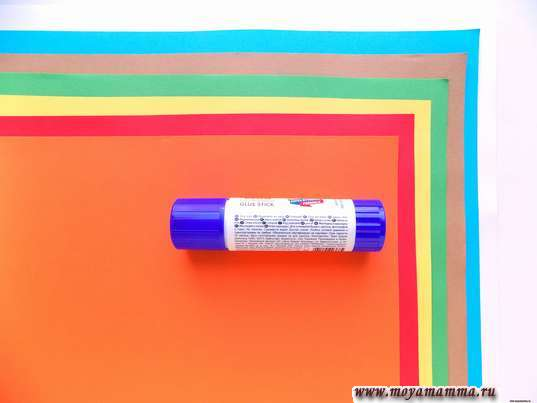 Цветная бумага, клеевой карандаш