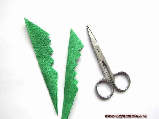 Вырезание листиков