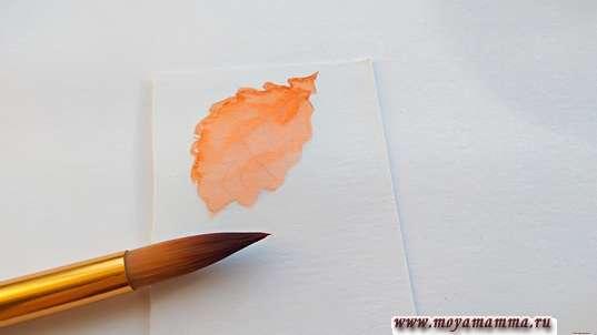 Окрашивание оранжевой краской