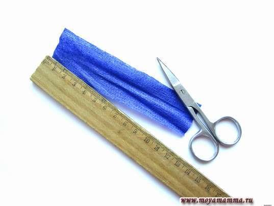 Полоса фиолетовой бумаги 12 х3 см