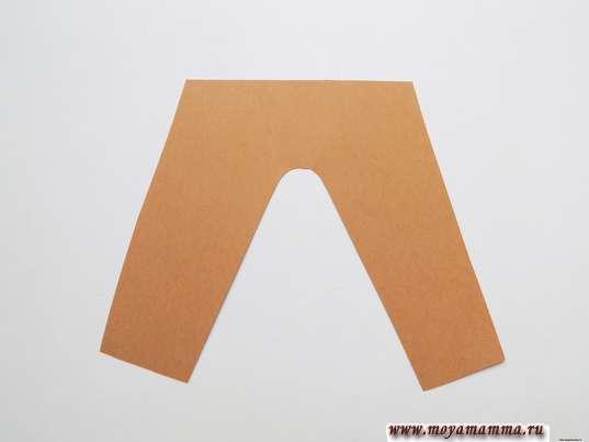 Брюки из коричневой бумаги