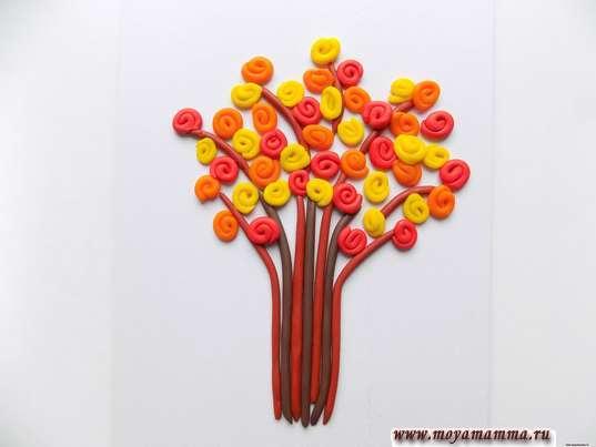 Осеннее дерево из пластилина