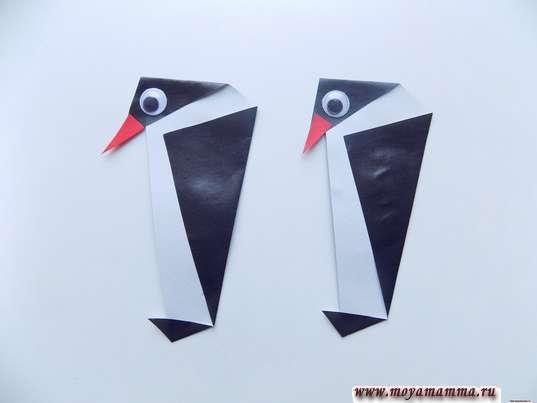 Аппликация Пингвины. Два пингвина