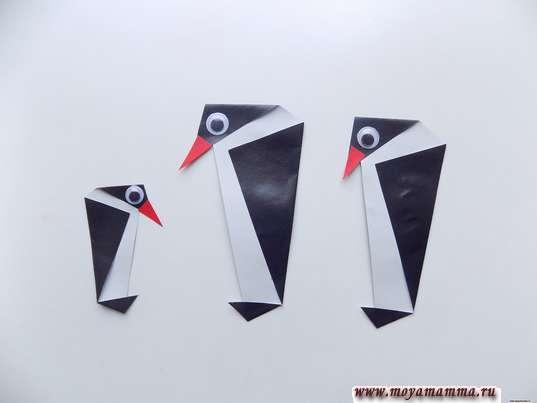Аппликация Пингвины. Изготовление пингвиненка