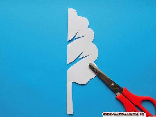 Дерево из белой бумаги