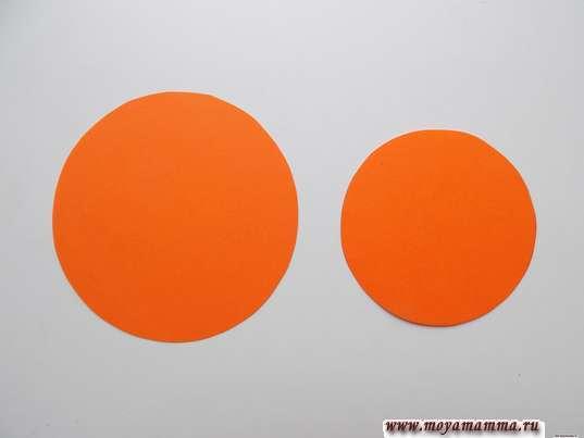 Круги диаметром 7 см и 3 см