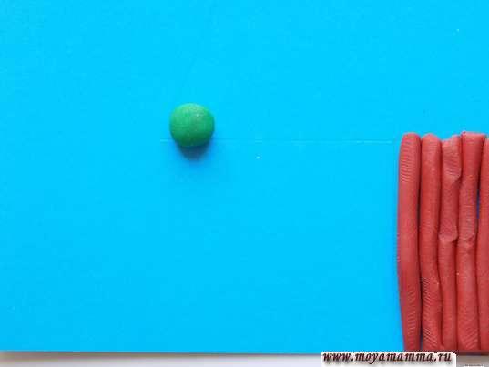 Темно-зеленый шарик
