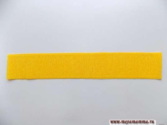 полоска шириной 5 см, а длиной 30 см