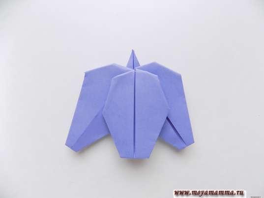 Ирис оригами. Цветок ириса
