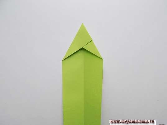 Ирис оригами. Изготовление листка ириса