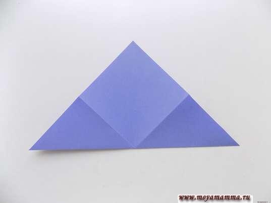 Квадрат, сложенный по диагонали