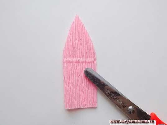 Лепесток из прямоугольника размером 5х7,5 см