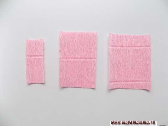 3 заготовки разных размеров: 6х2 см, 7,5х5 см и 7,5х 6 см