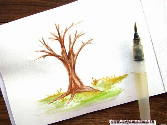 Рисование лужайки и травы