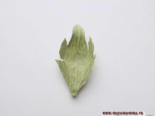 Подкручивание и растягивание листочка