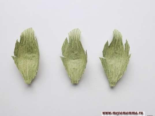 Осенний букет из гофрированной бумаги. Листочки