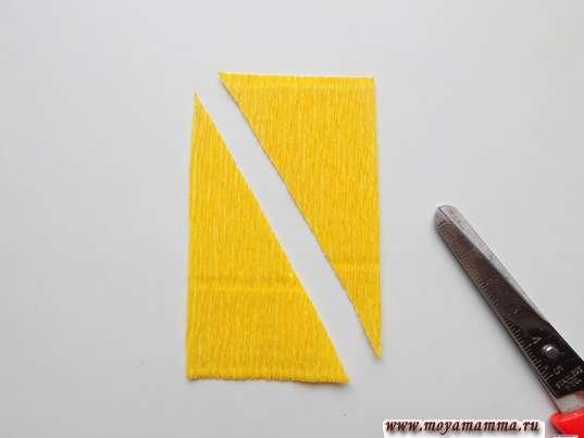 Прямоугольник, разрезанный по диагонали