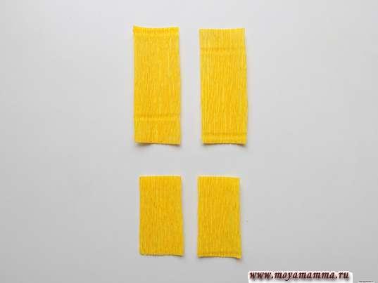 Заготовки размером 2,5х6,5 см и 2,5х4,5 см