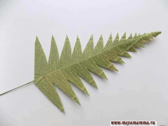 Вырезание листочков с другой стороны