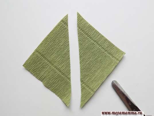 Разрезание по диагонали