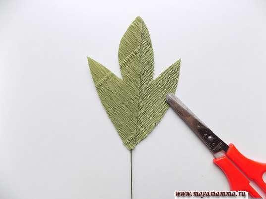 Вырезание листика