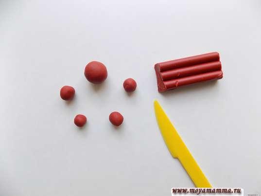 шарики разного размера