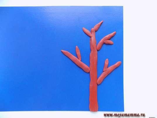 Веточки дерева из жгутиков
