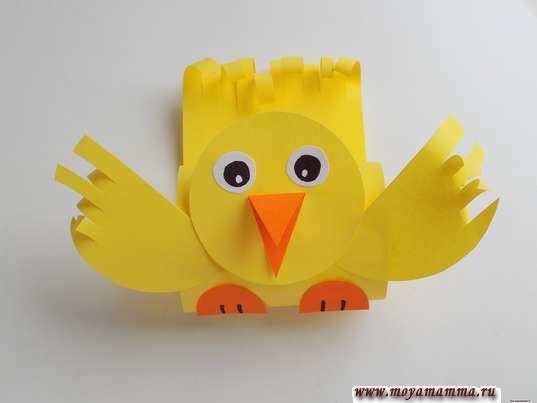 простая птичка из бумаги