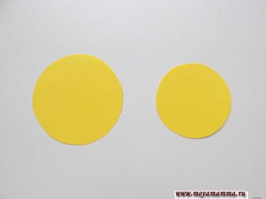 пара кругов диаметром 5 и 6 см